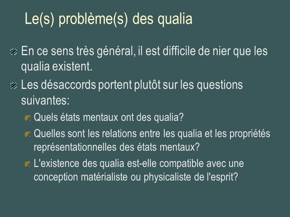 Le(s) problème(s) des qualia