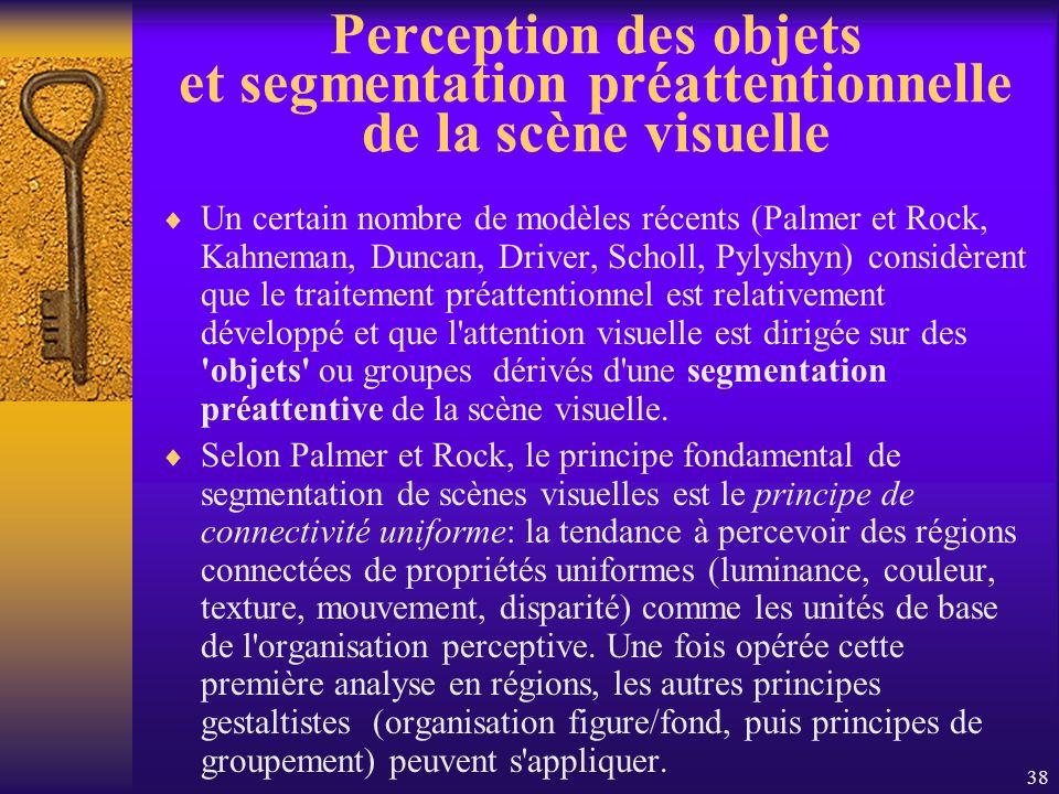 Perception des objets et segmentation préattentionnelle de la scène visuelle