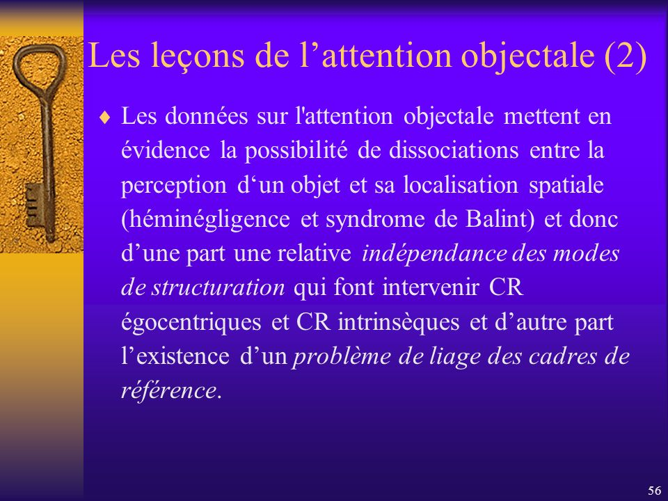 Les leçons de l'attention objectale (2)