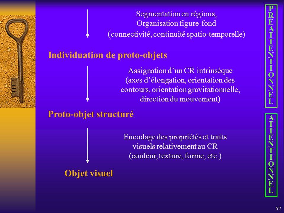 Individuation de proto-objets Proto-objet structuré