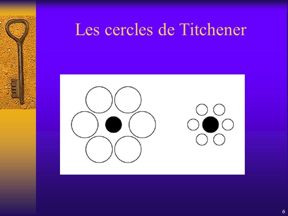 Les cercles de Titchener