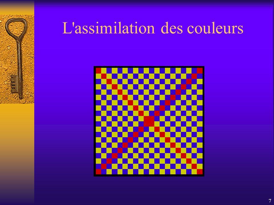 L assimilation des couleurs