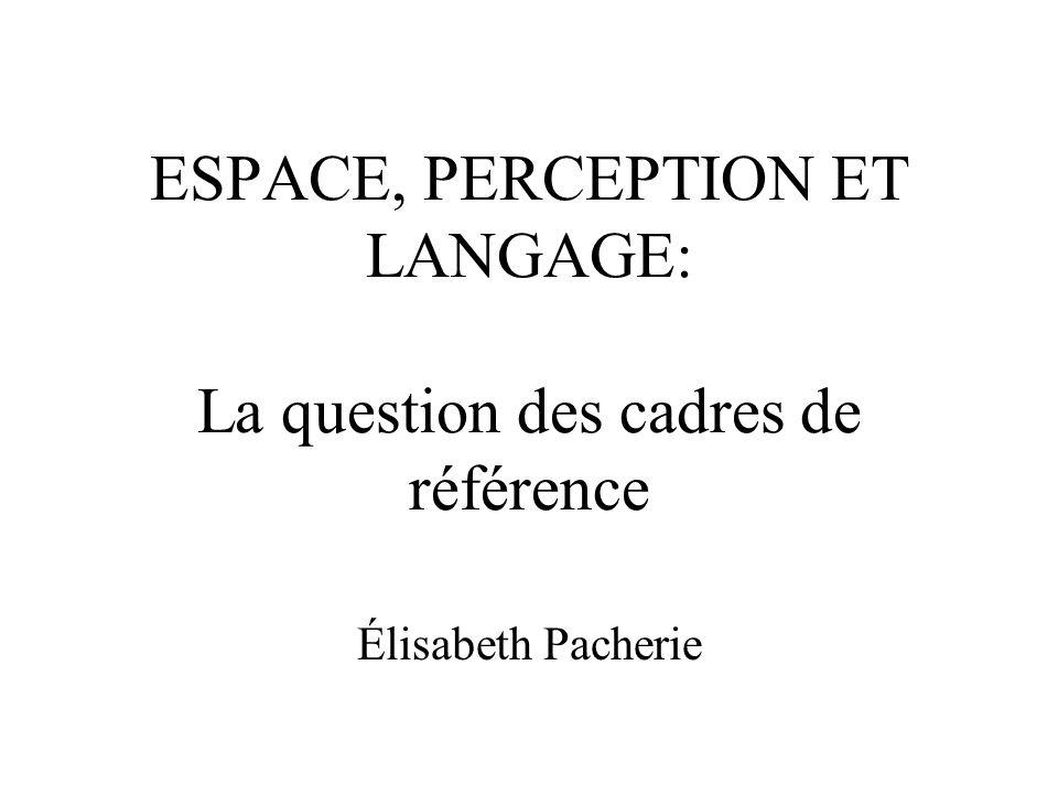 ESPACE, PERCEPTION ET LANGAGE: La question des cadres de référence