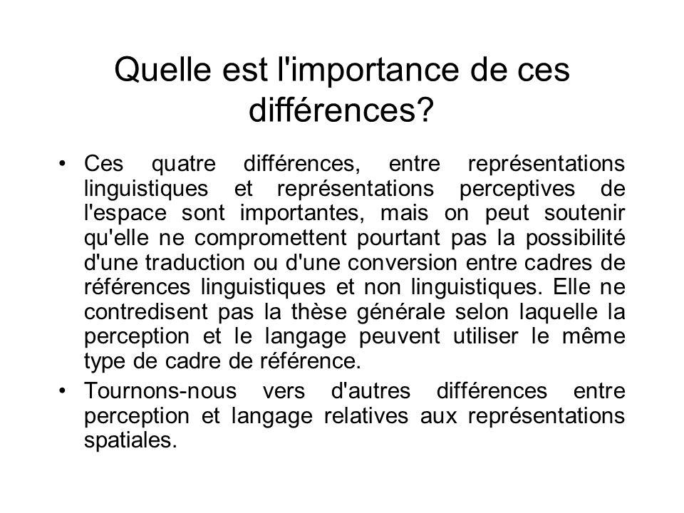 Quelle est l importance de ces différences