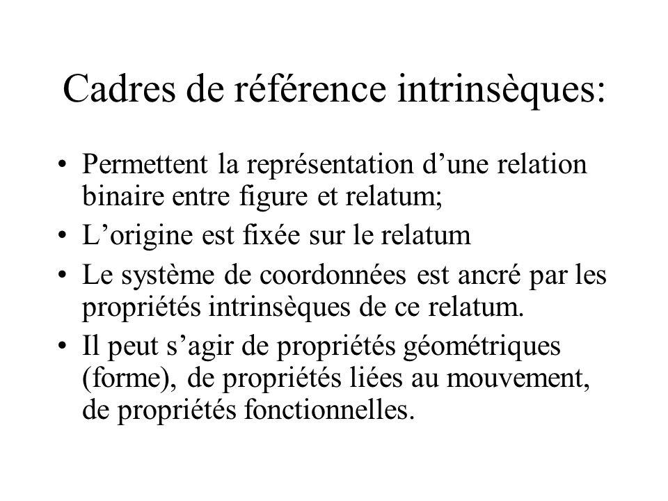 Cadres de référence intrinsèques: