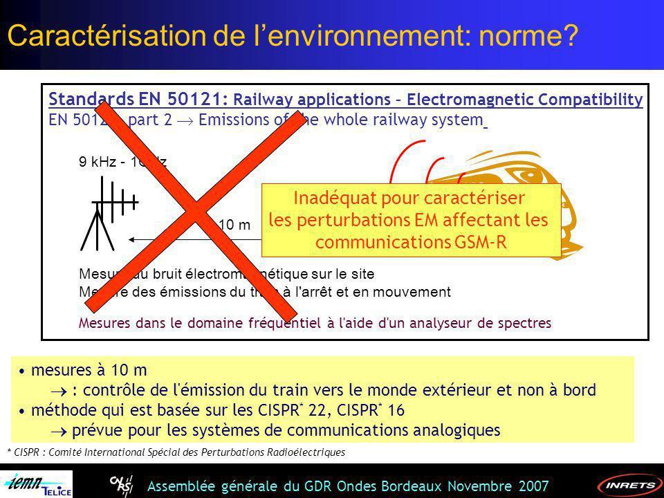 Caractérisation de l'environnement: norme