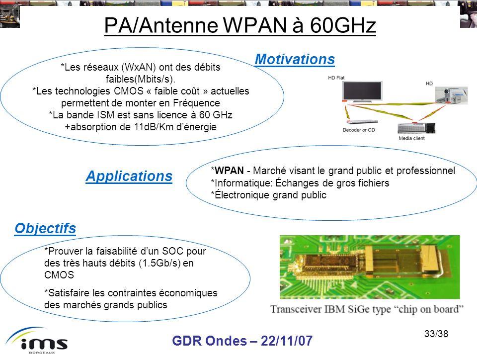 *Les réseaux (WxAN) ont des débits faibles(Mbits/s).
