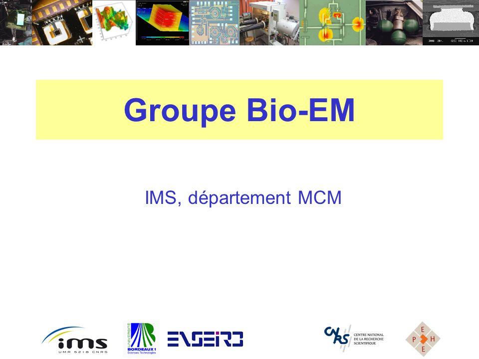 Groupe Bio-EM IMS, département MCM