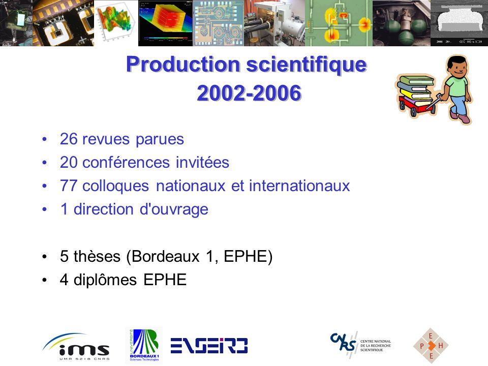 Production scientifique 2002-2006