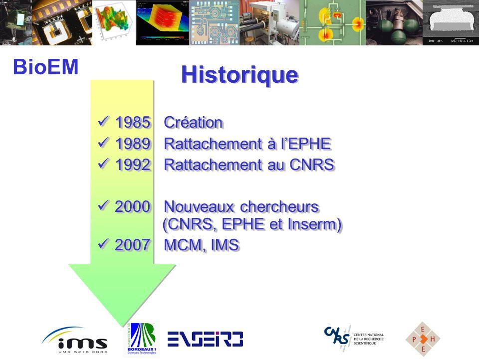 Historique BioEM 1985 Création 1989 Rattachement à l'EPHE