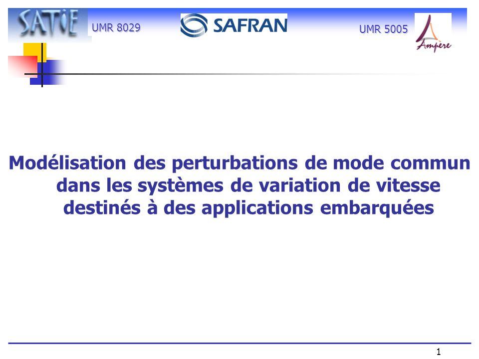 Modélisation des perturbations de mode commun dans les systèmes de variation de vitesse destinés à des applications embarquées