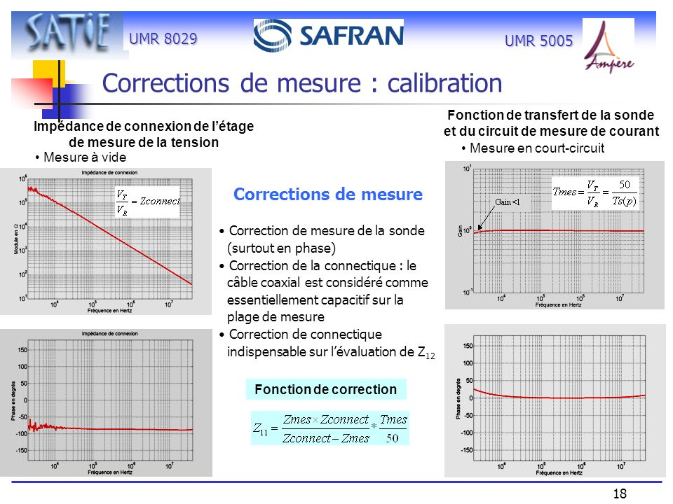 Corrections de mesure : calibration