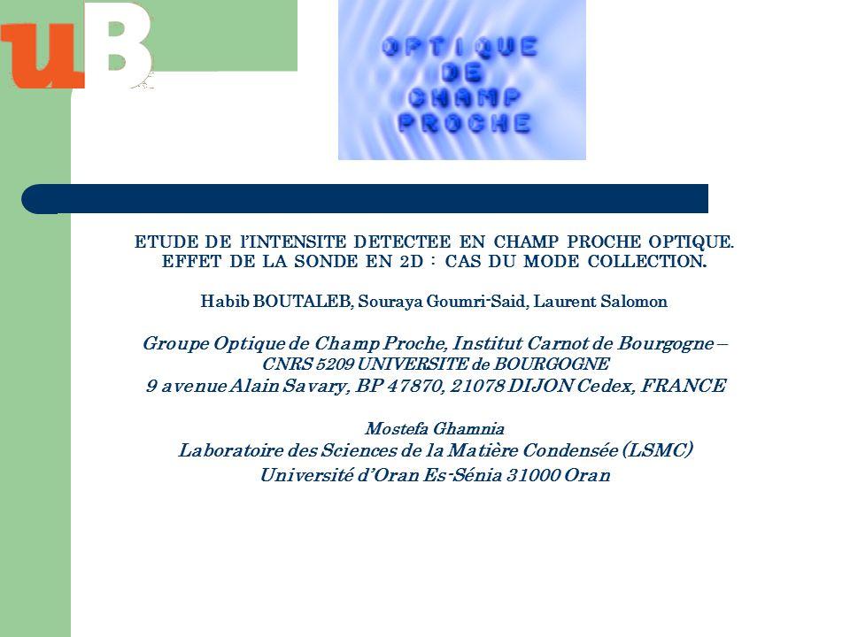 Groupe Optique de Champ Proche, Institut Carnot de Bourgogne –