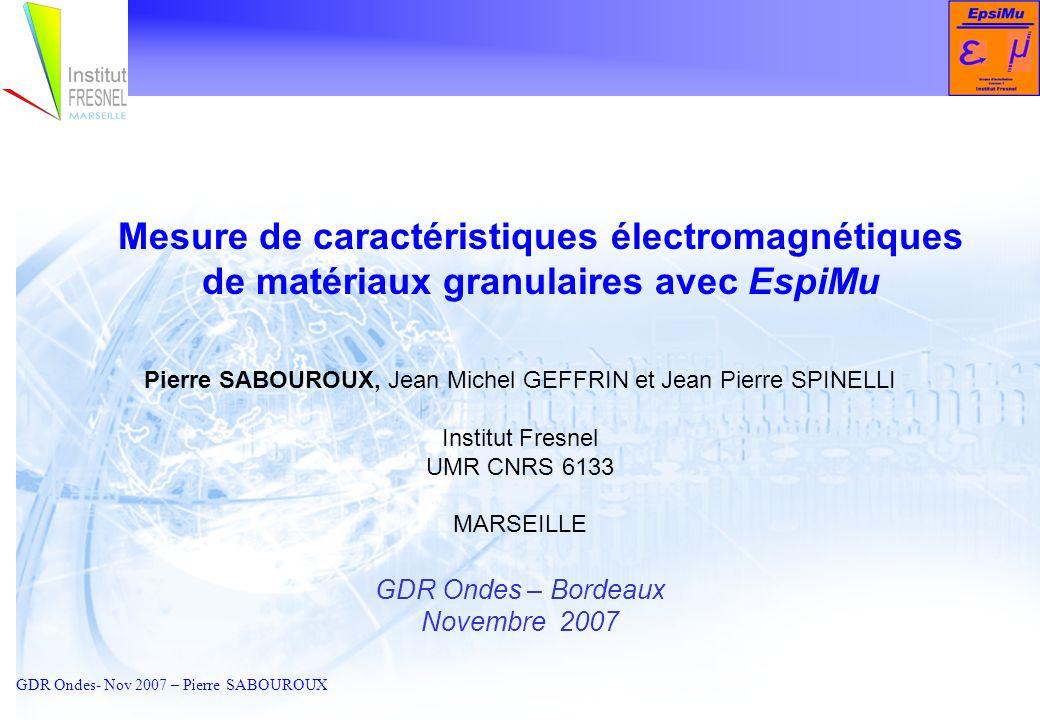 Mesure de caractéristiques électromagnétiques