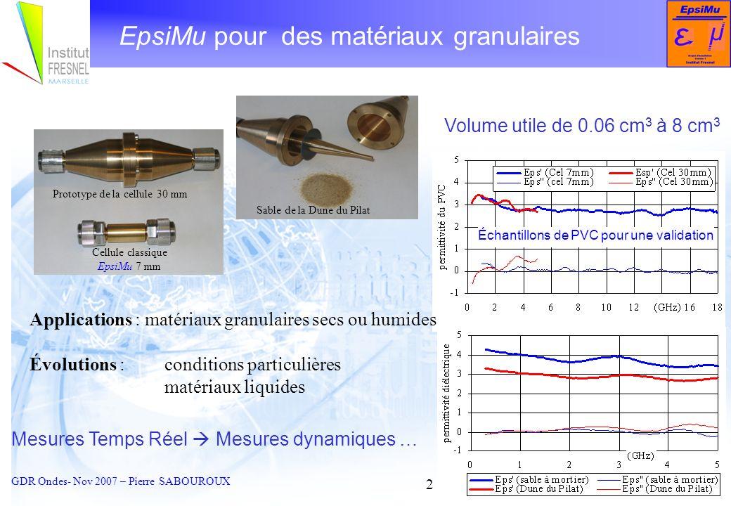 EpsiMu pour des matériaux granulaires