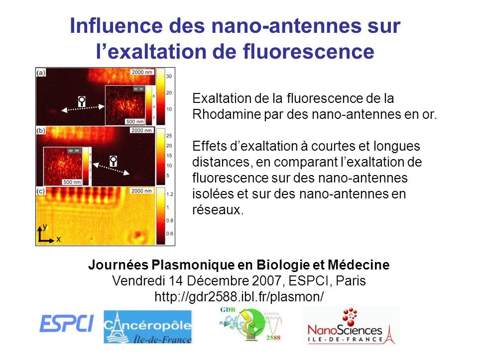 Influence des nano-antennes sur l'exaltation de fluorescence