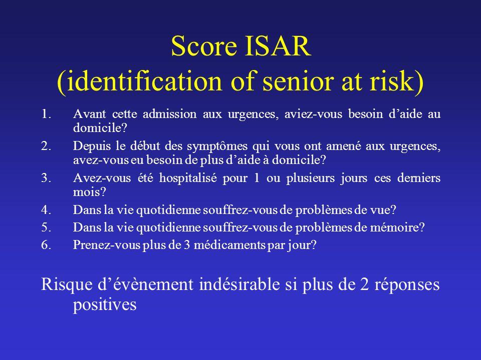 Score ISAR (identification of senior at risk)