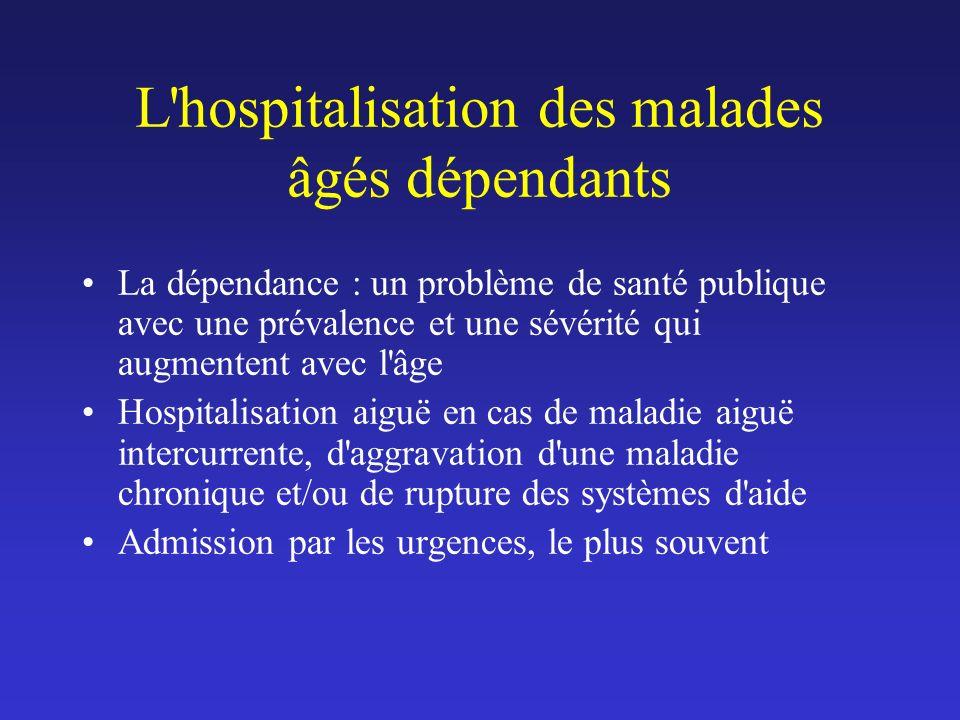 L hospitalisation des malades âgés dépendants
