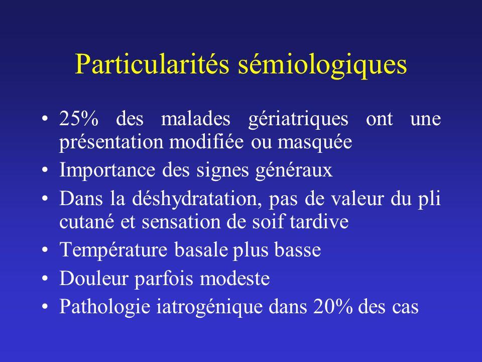 Particularités sémiologiques