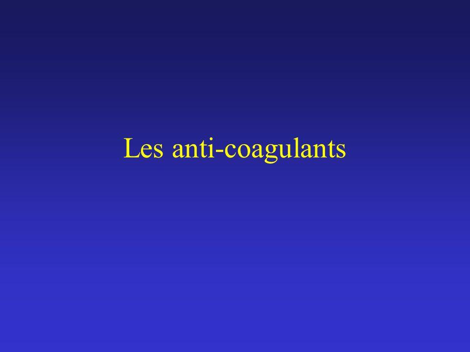 Les anti-coagulants Turpie, Am J Cardiol. 2000