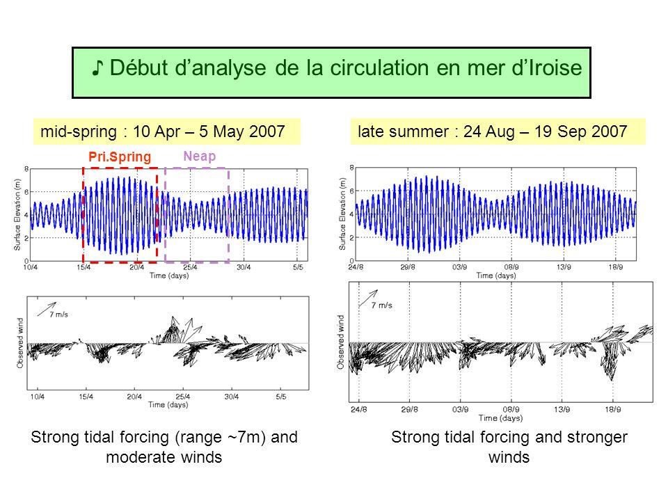 ♪ Début d'analyse de la circulation en mer d'Iroise