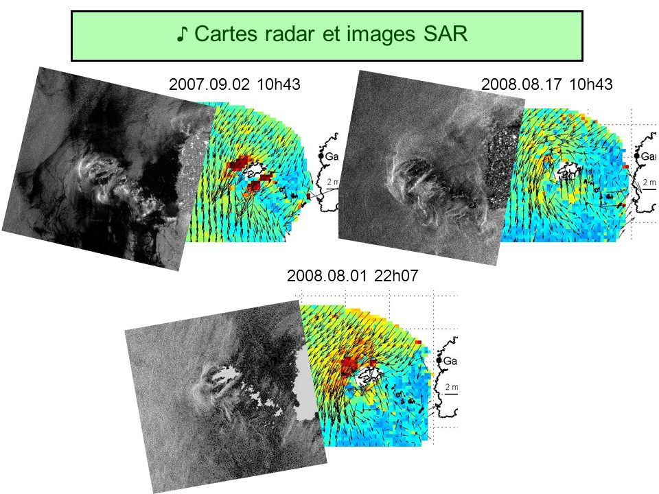 ♪ Cartes radar et images SAR