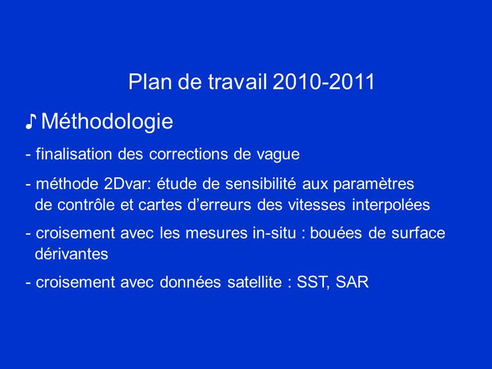 Plan de travail 2010-2011 ♪ Méthodologie