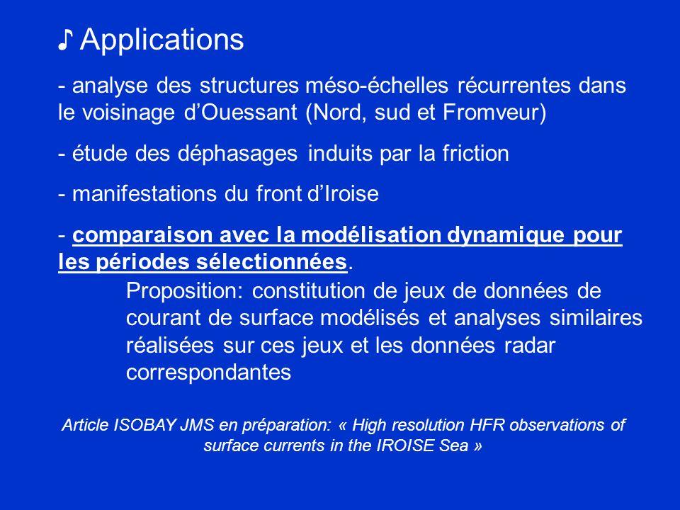 ♪ Applications analyse des structures méso-échelles récurrentes dans le voisinage d'Ouessant (Nord, sud et Fromveur)