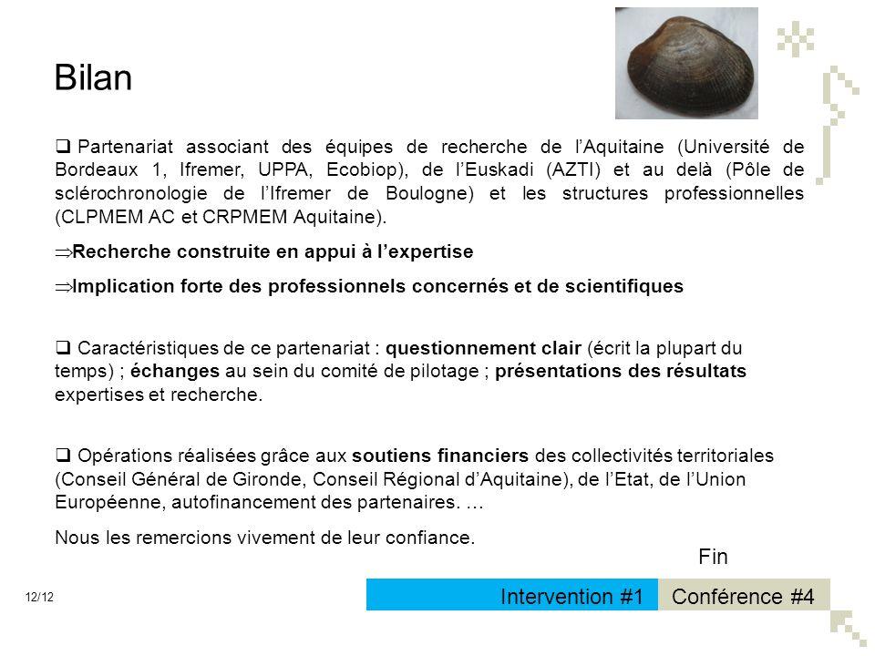 Bilan Fin Intervention #1 Conférence #4