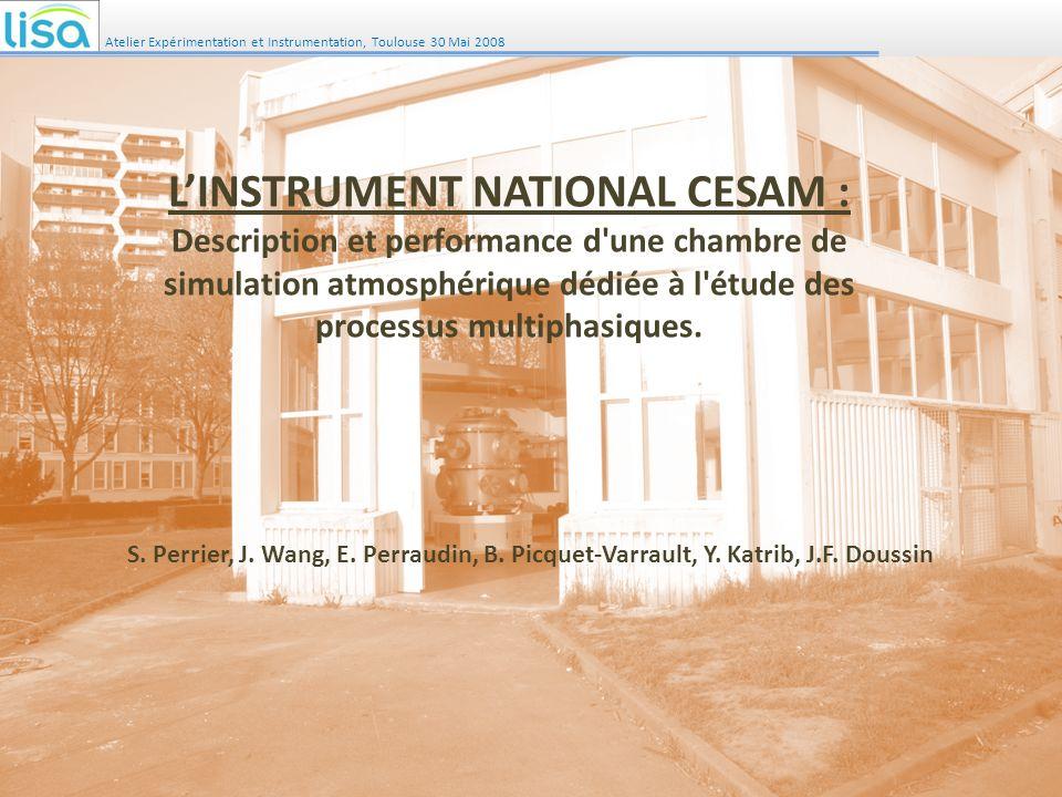 Atelier Expérimentation et Instrumentation, Toulouse 30 Mai 2008
