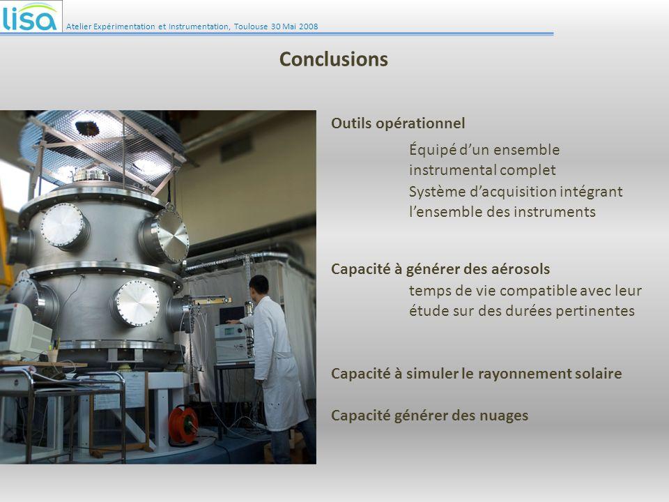 Conclusions Outils opérationnel