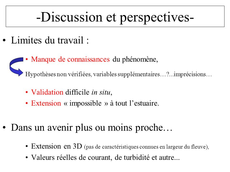 -Discussion et perspectives-