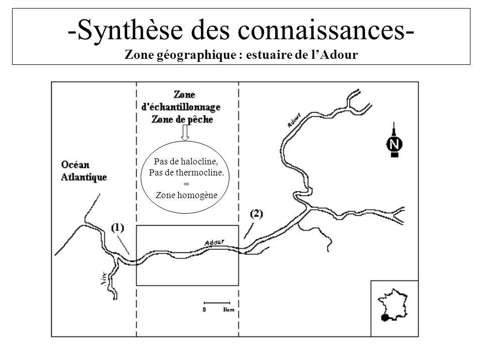 -Synthèse des connaissances- Zone géographique : estuaire de l'Adour