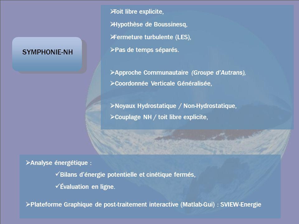 SYMPHONIE-NH Toit libre explicite, Hypothèse de Boussinesq,