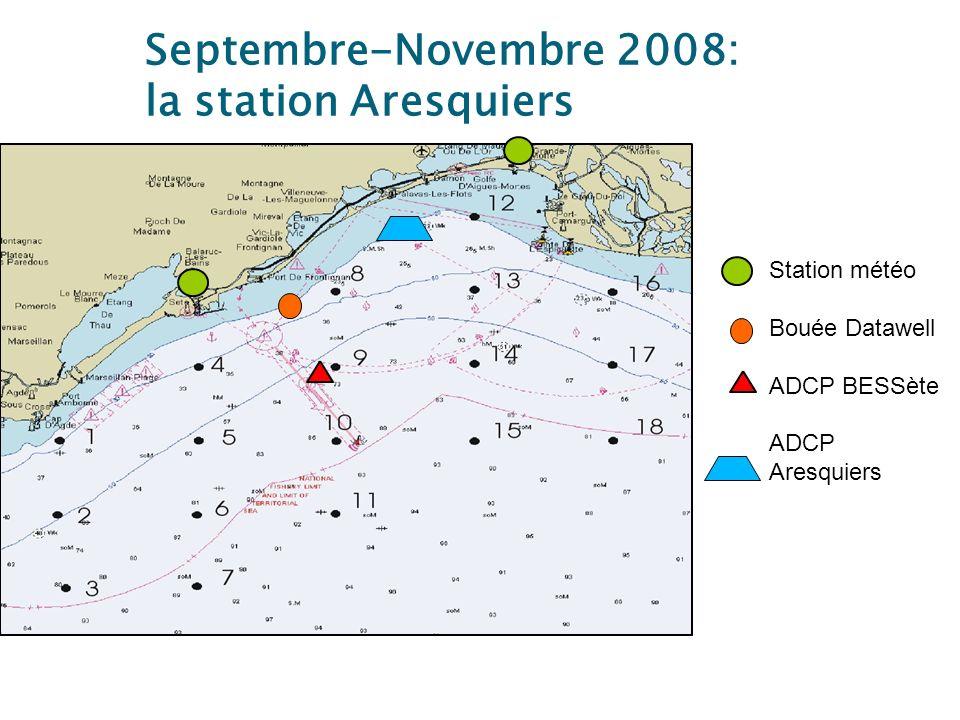 Septembre-Novembre 2008: la station Aresquiers Station météo