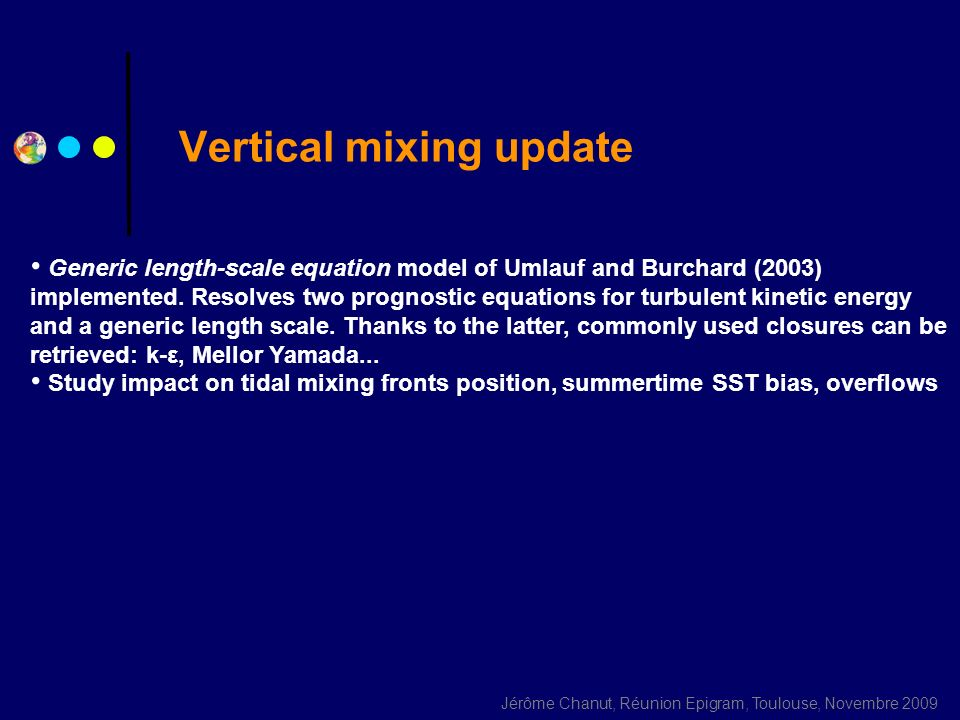 Vertical mixing update