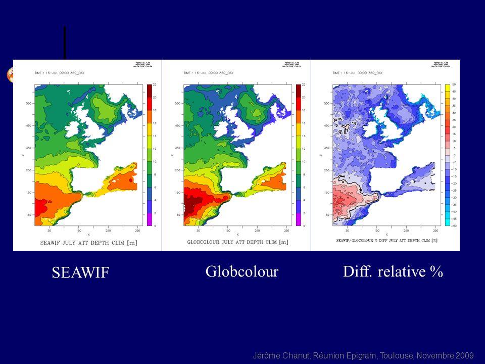 SEAWIF Globcolour Diff. relative %