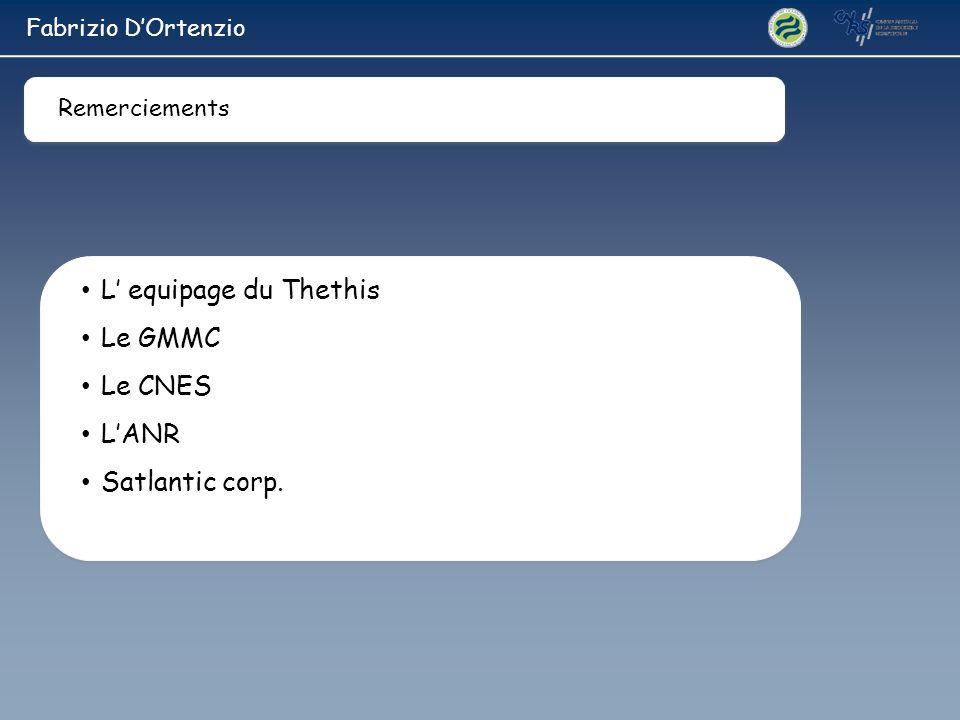 L' equipage du Thethis Le GMMC Le CNES L'ANR Satlantic corp.