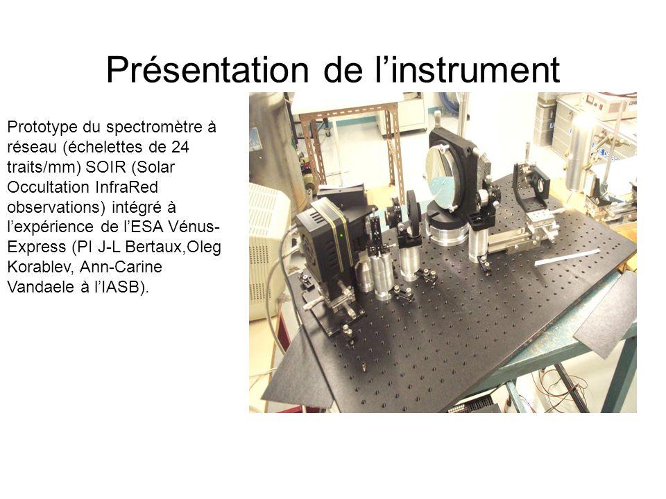 Présentation de l'instrument