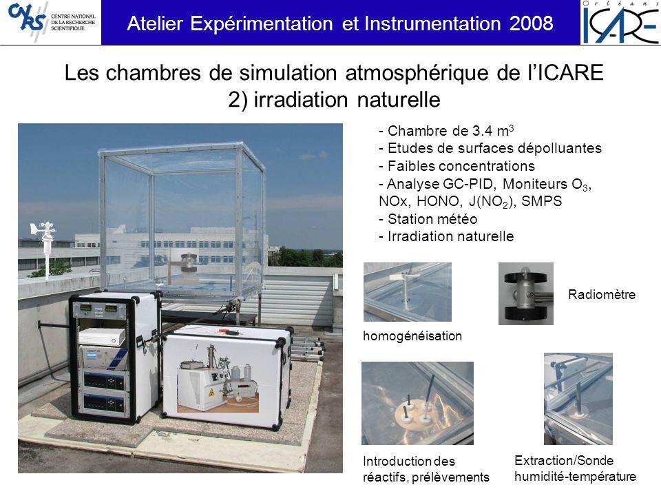 Les chambres de simulation atmosphérique de l'ICARE