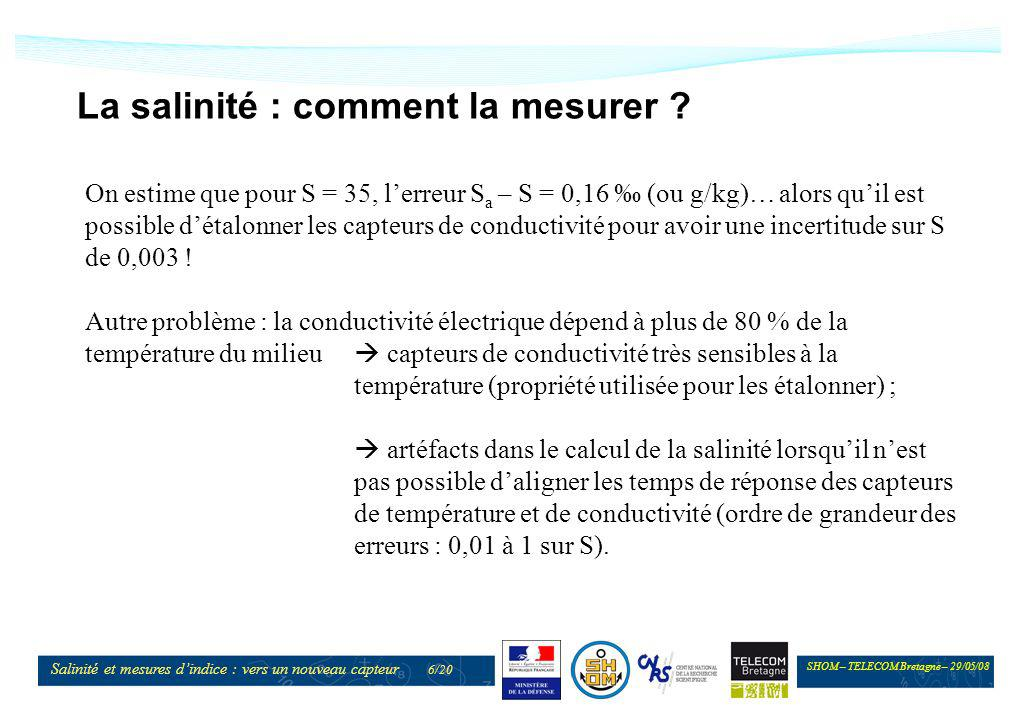 La salinité : comment la mesurer