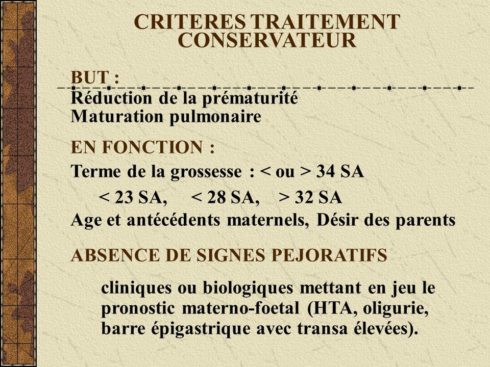 CRITERES TRAITEMENT CONSERVATEUR