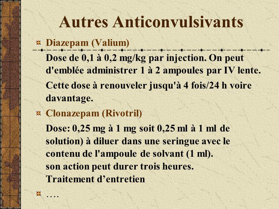 Autres Anticonvulsivants