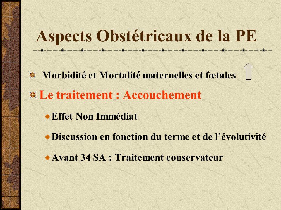 Aspects Obstétricaux de la PE