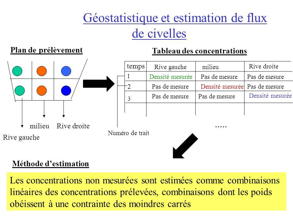 Géostatistique et estimation de flux de civelles