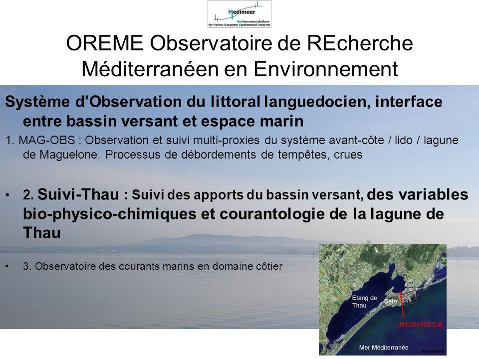 OREME Observatoire de REcherche Méditerranéen en Environnement