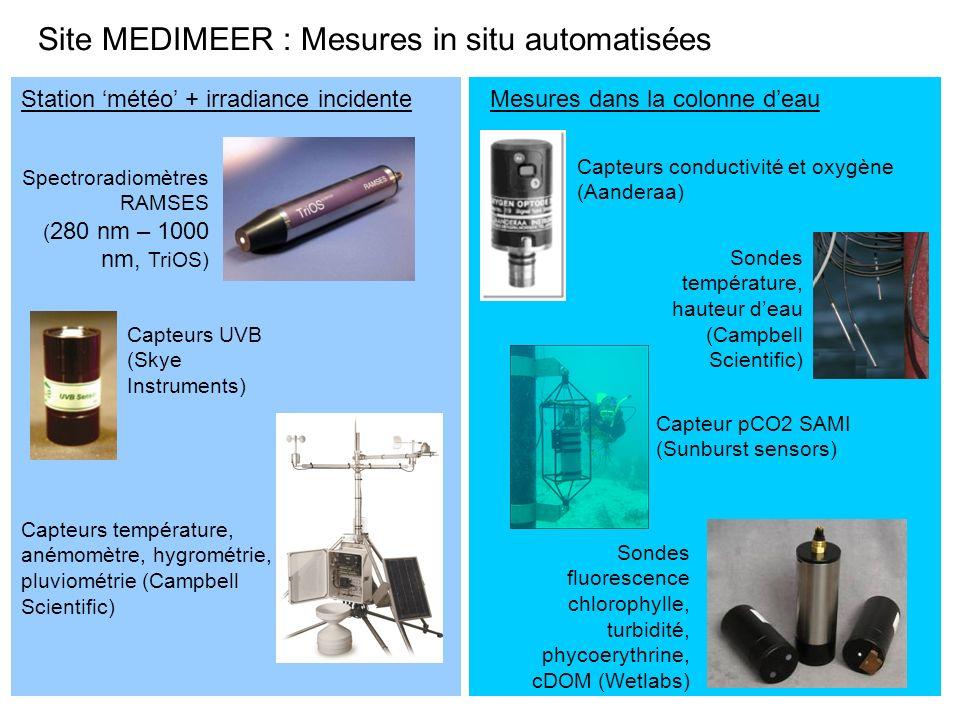 Site MEDIMEER : Mesures in situ automatisées