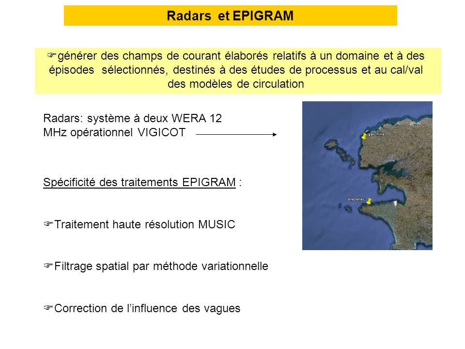 Radars et EPIGRAM