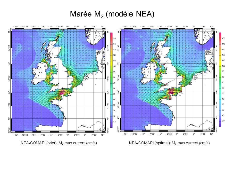 Marée M2 (modèle NEA) NEA-COMAPI (prior): M2 max current (cm/s)
