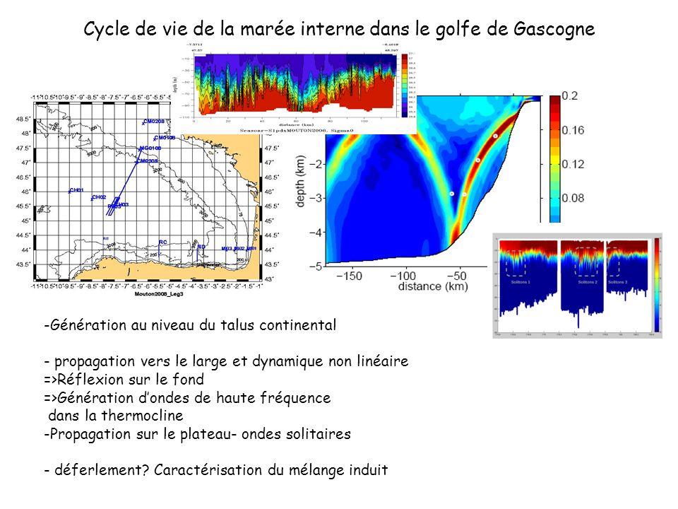 Cycle de vie de la marée interne dans le golfe de Gascogne